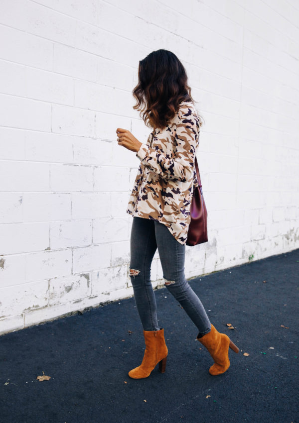 Camo Print Top for Fall