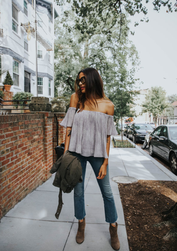 Army Jacket and Crop Flares