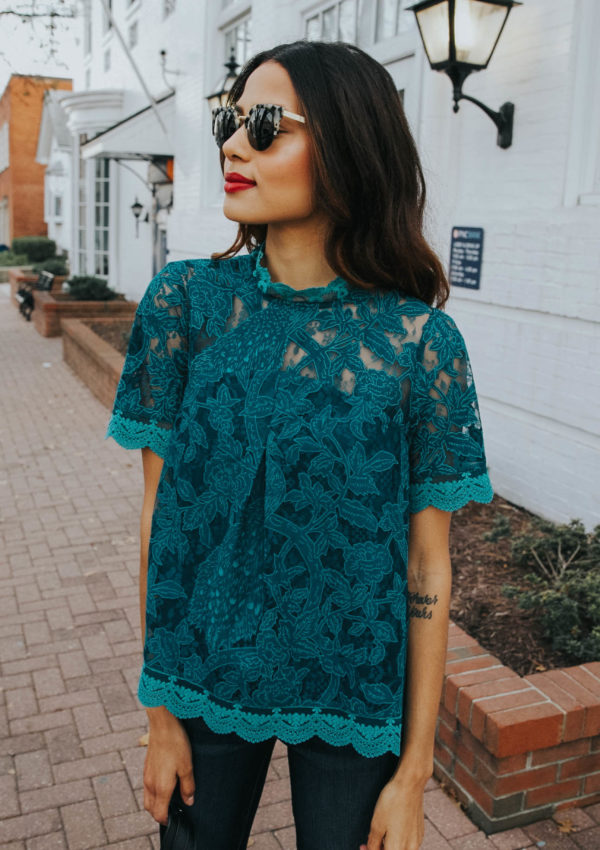 Jewel Tones and Lace
