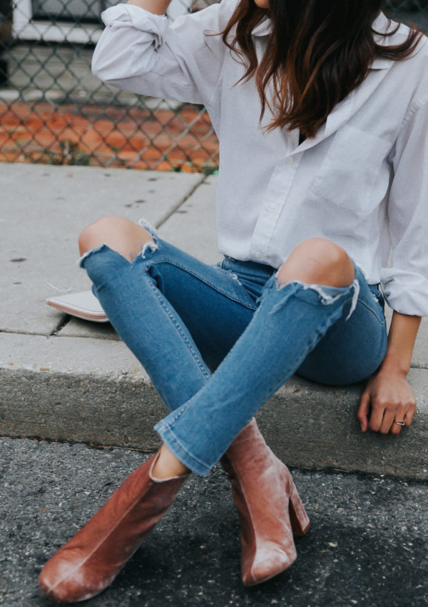 White Button Down + Denim