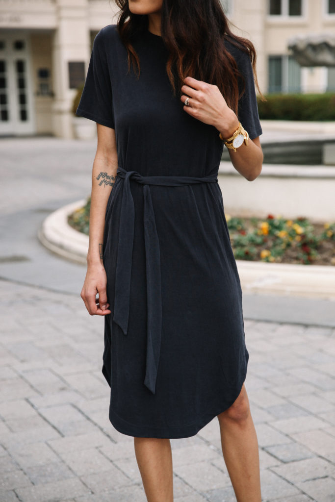 The PERFECT black wrap dress under $50 via www.DISCODAYDREAM.com