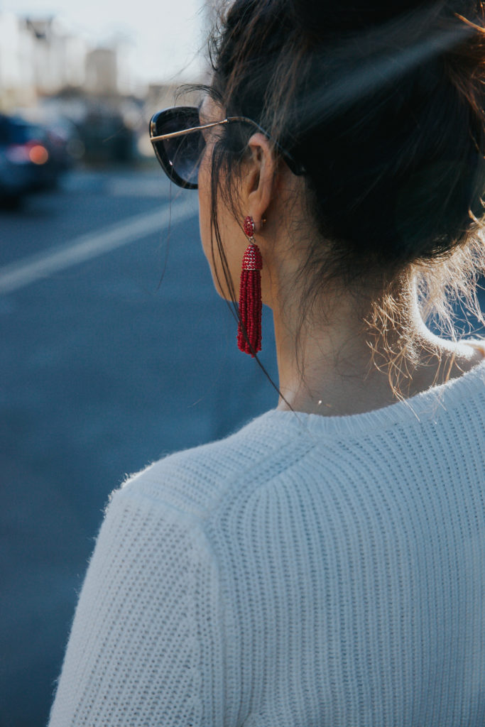 the perfect red tassel earrings via discodaydream.com @discodaydream on instagram