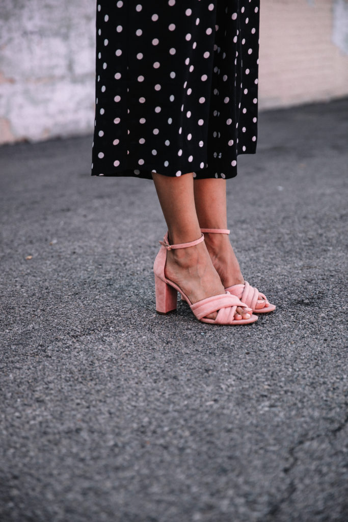 pink heels and polka dots // outfit inspiration via www.discodaydream.com