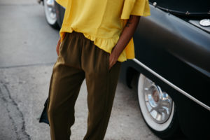 Nordstrom Sale Picks / Mustard and Olive Green Casual Look via www.DISCODAYDREAM.com