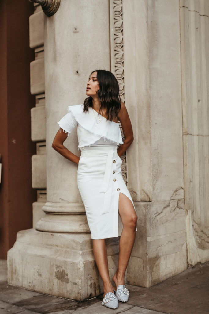 7b7f16728699 lauren johnson of disco daydream blog styles an all white summer look from  River Island