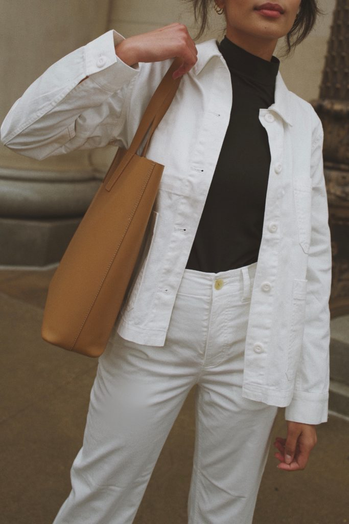 Lauren Johnson of Disco Daydream wears Everlane for Spring / Day Tote @discodaydream